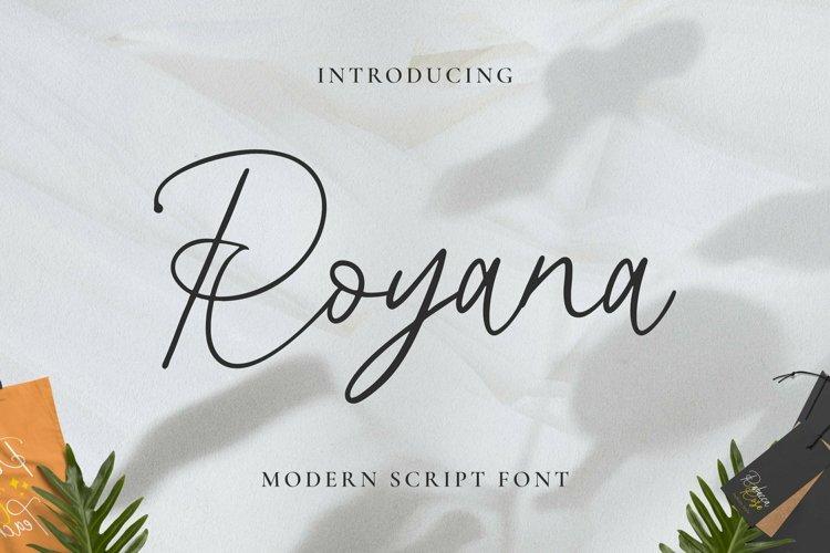 Web Font Royana example image 1