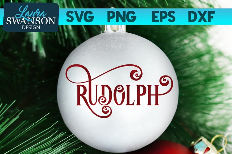 Reindeer Rudolph SVG Cut File   Christmas Ornament SVG example image 1