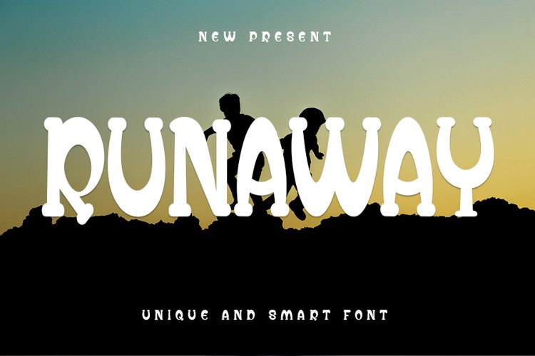 Runaway - Unique Display Font example image 1