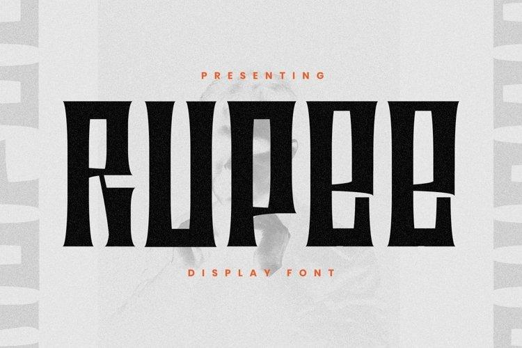Web Font Rupee example image 1