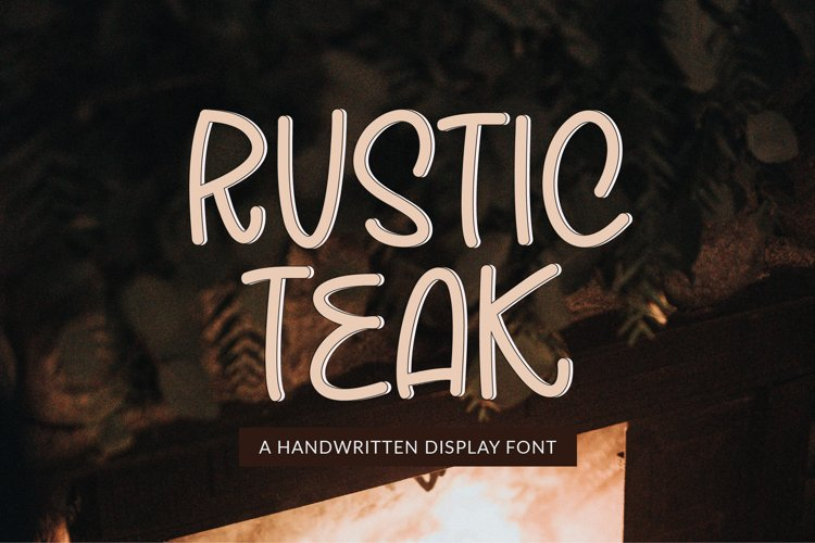 Rustic Teak - a quirky handwritten font example image 1