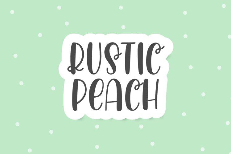 Rustic Peach