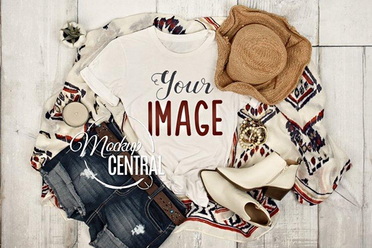 Womans Summer Boho Country Rustic T-Shirt JPG Mockup