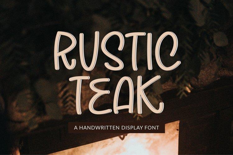 Web Font Rustic Teak - a quirky handwritten font example image 1