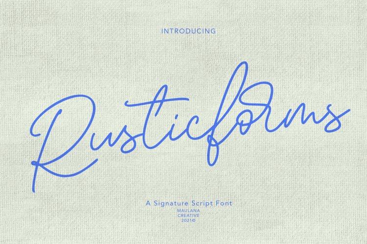 Rusticforms Signature Script Font example image 1