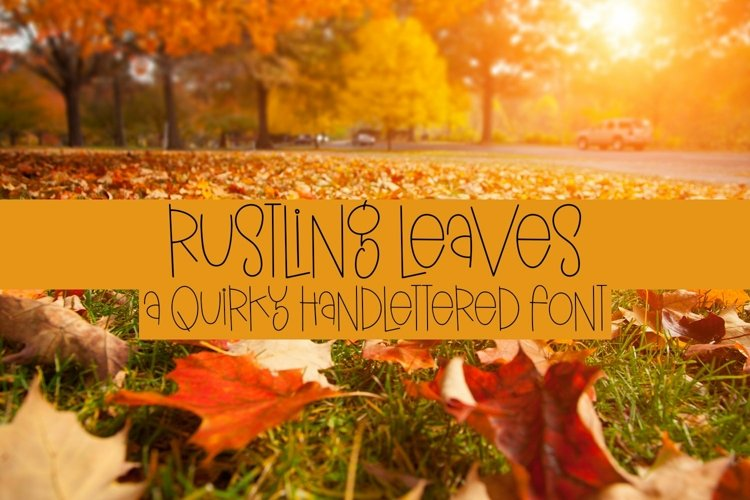 Web Font Rustling Leaves - A Quirky Handlettered Font example image 1