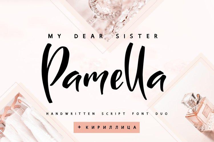 Sister Pamella Font Duo Cyrillic example image 1