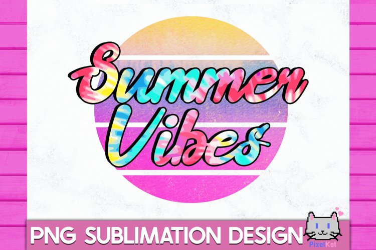 SUMMER Sublimation|Summer vibes PNG|Retro Summer Sublimation example image 1