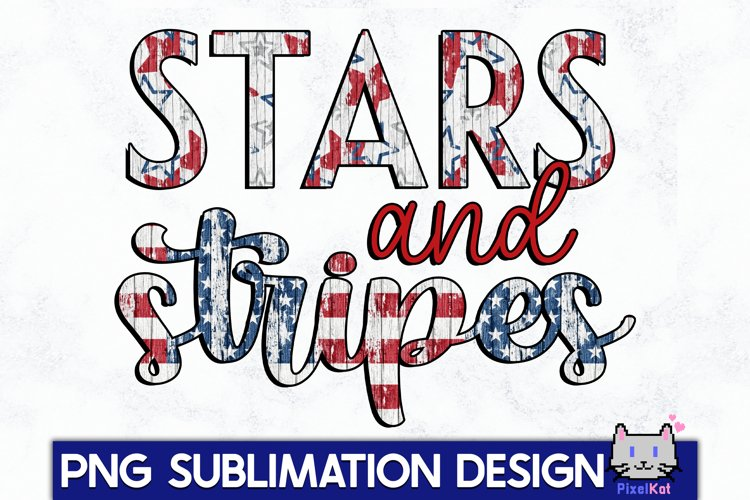 4TH OF JULY Sublimation|Stars and stripes PNG example image 1