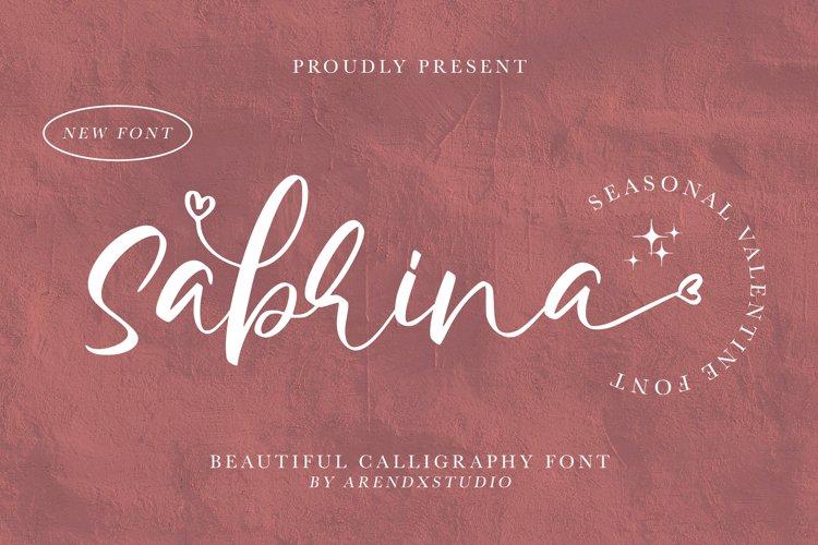 Sabrina - Beautiful Calligraphy Font example image 1