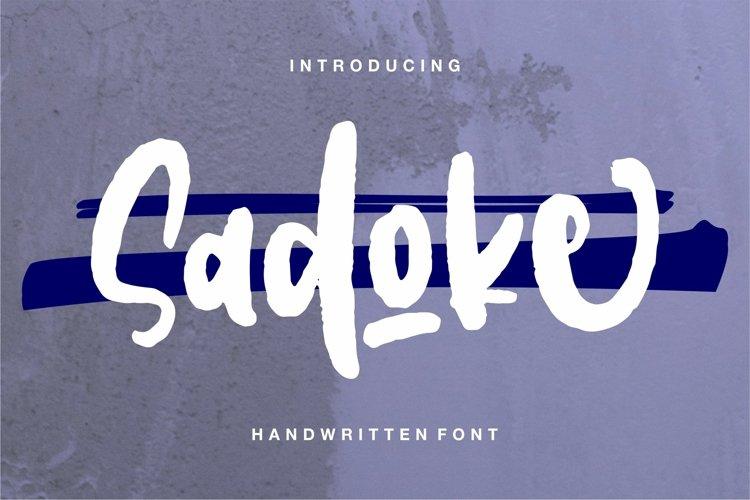 Sadoke - Handwritten Font example image 1