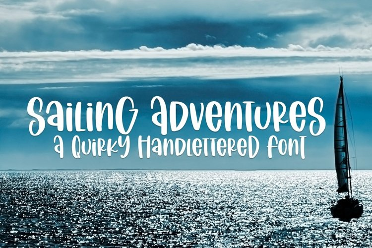 Web Font Sailing Vacation - A Quirky Handlettered Font example image 1