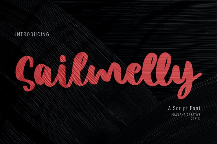 Sailmelly Script Font example image 1