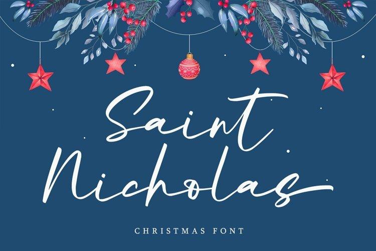 Web Font Saint Nicholas - Christmas Font example image 1