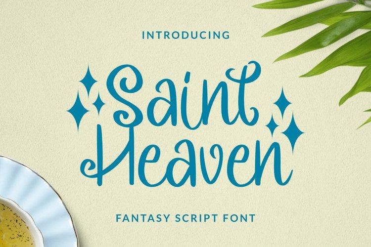 Web Font Saintheaven Font example image 1