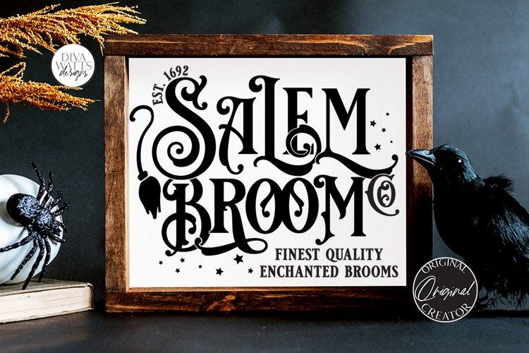 Salem Broom Co SVG   Halloween Design example image 1
