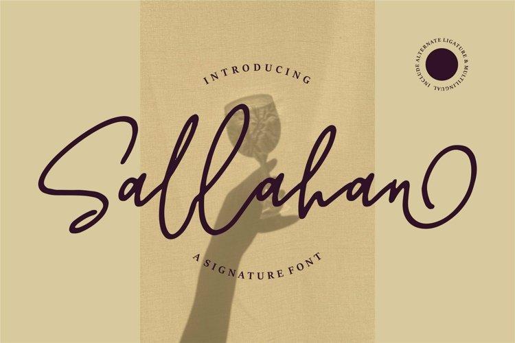 Web Font Sallahan - A Signature Font example image 1
