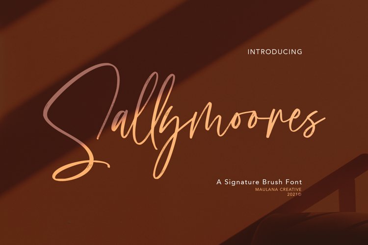 Sallymoores Signature Brush Font example image 1