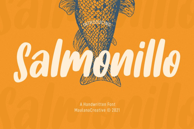 Salmonillo Handwritten Font example image 1