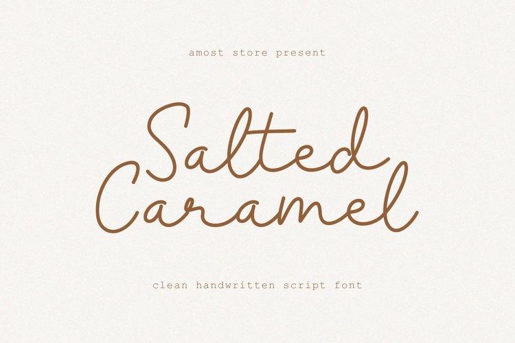Salted Caramel - Monoline Script example image 1