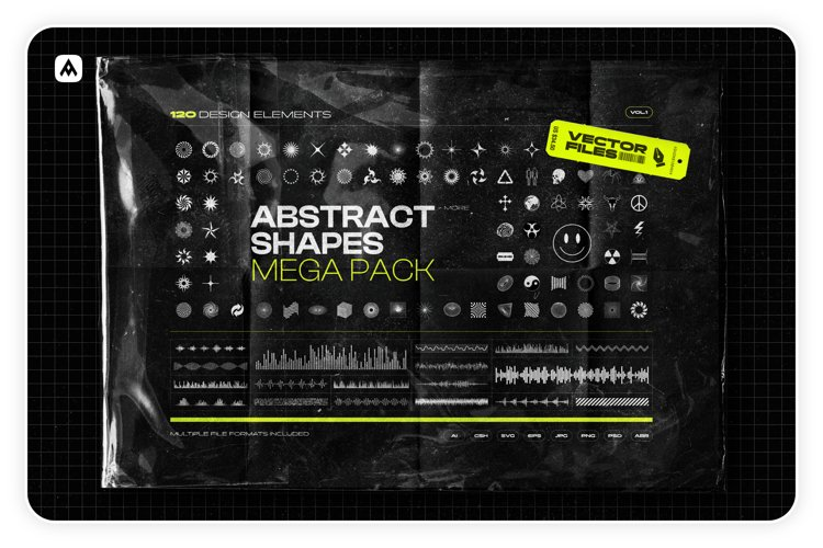 Abstract shapes MEGA PACK example image 1