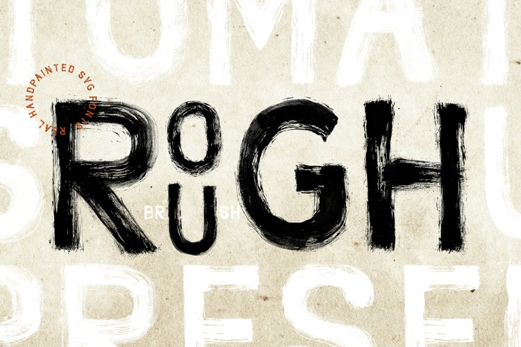Handpainted Rough Brush SVG Fonts example image 1