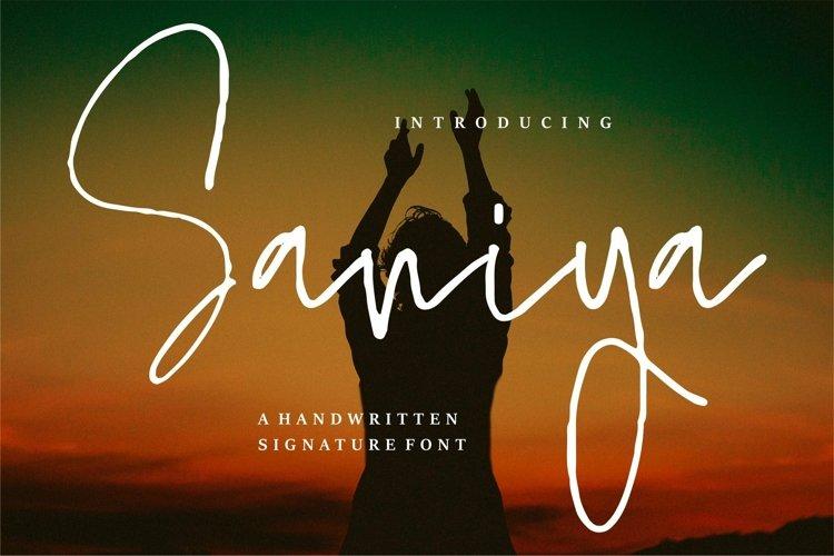 Web Font Saniya - A Handwritten Signature Font example image 1