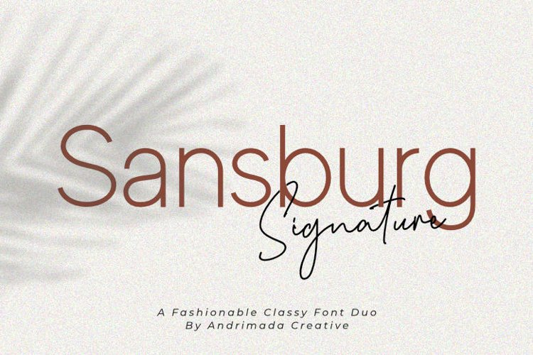 Sansburg | A Classy Elegant Font Duo example image 1