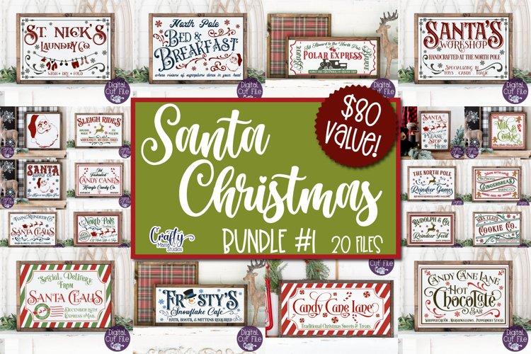 Christmas Svg, Farmhouse Christmas Sign Bundle, Santa Claus - Free Design of The Week Font