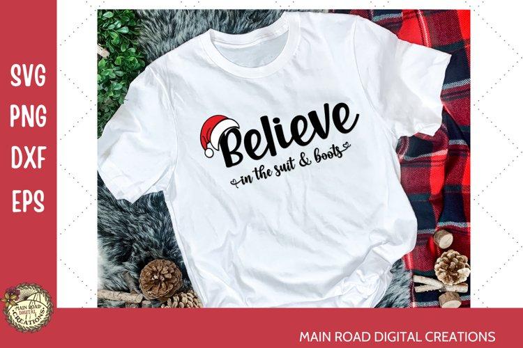 Believe in Christmas Design, Cricut cut files for Christmas, Christmas shirt idea