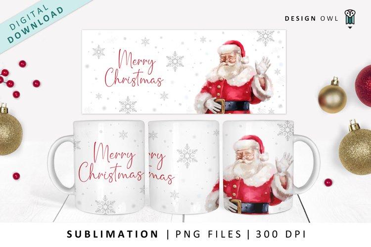 Waving Santa Mug Wrap - Sublimation File