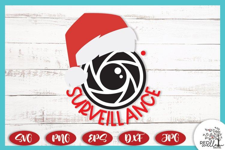 Santa Surveillance Ornament SVG, Santa Cam SVG