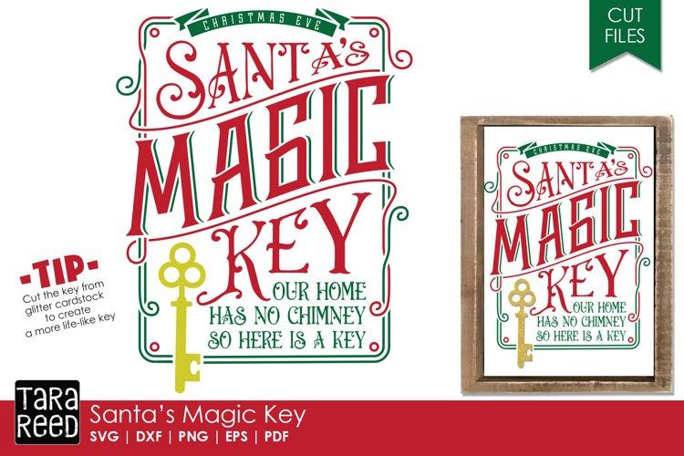 Santas Magic Key SVG and Cut Files for Crafters