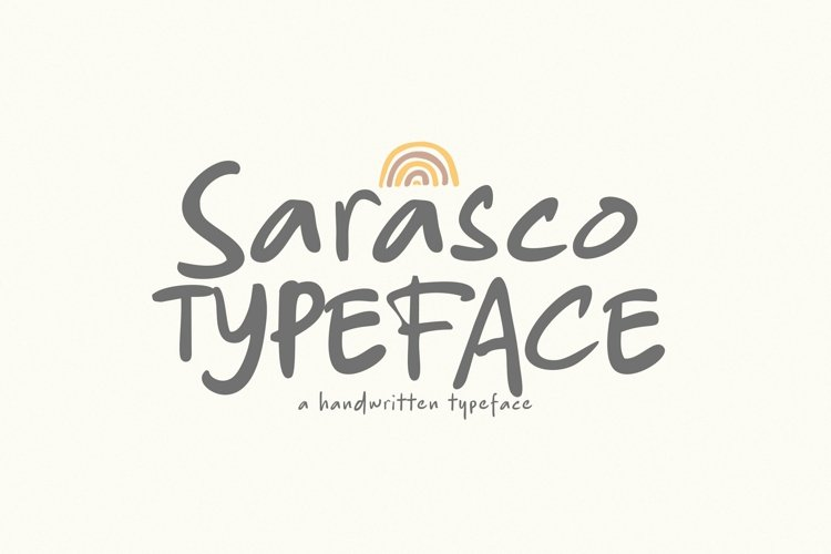 Web Font Sarasco example image 1
