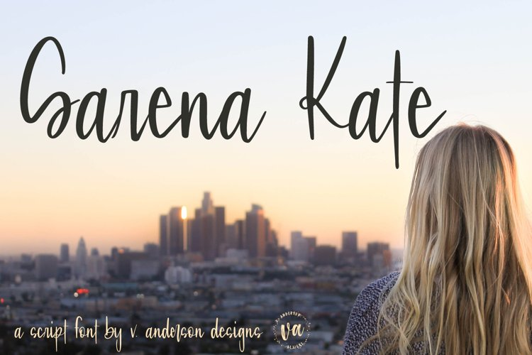 Sarena Kate | A Hand Written Script Font