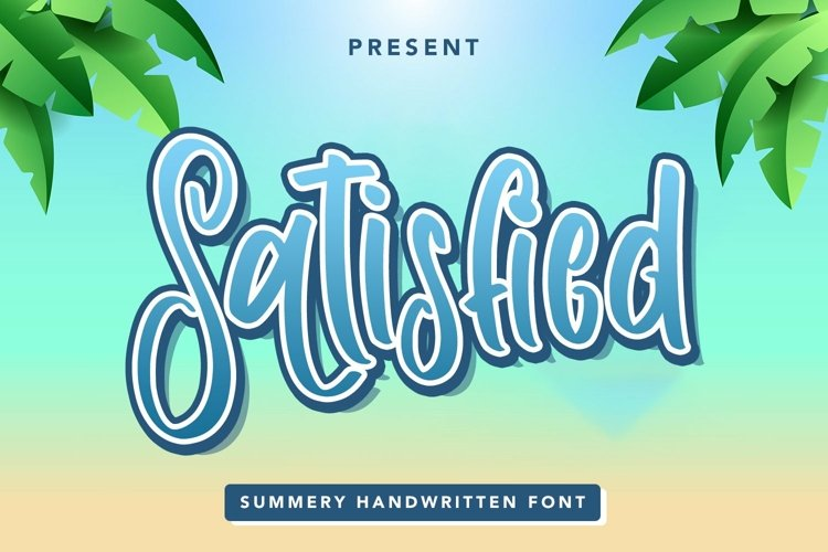 Web Font Satisfied - Summery Handwritten Font