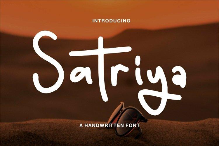 Web Font Satriya - A Handwritten Font example image 1