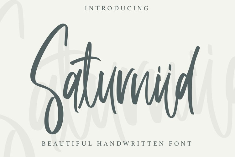 Saturniid - Beautiful Handwritten