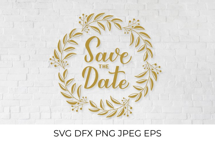 Save the date calligraphy hand lettering