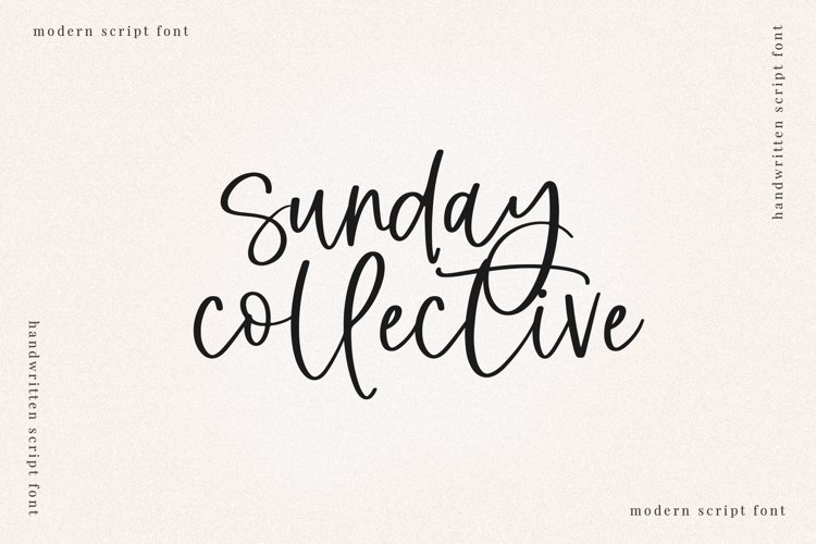 Sunday Collective - A Modern Script Font example image 1