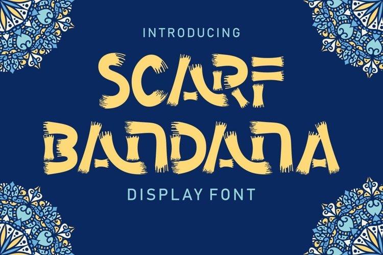 Scarf Bandana - Display Font example image 1