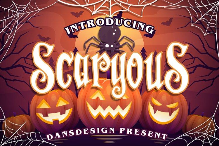 Scaryous halloween font example image 1