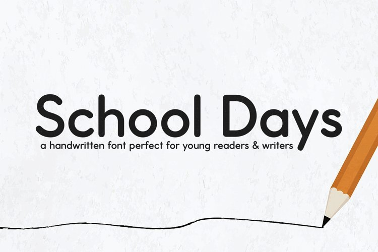 School Days Font example image 1