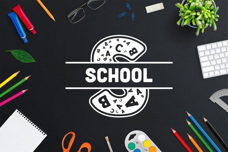 Back to School Monogram Font example image 1