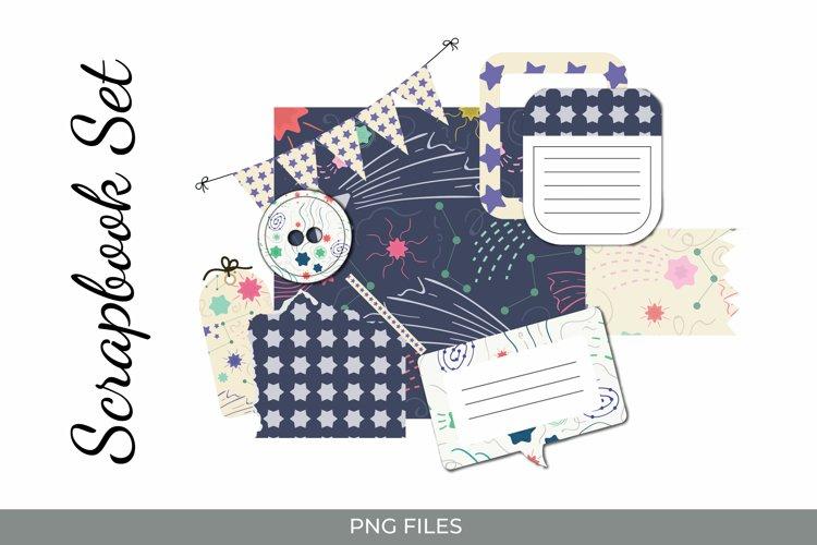 Stars Journaling Set - Scrapbooking Kits PNG example image 1