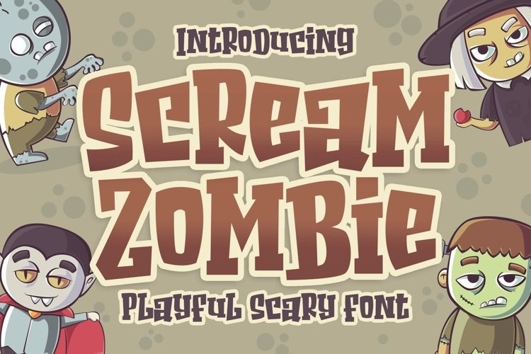 Scream Zombie - Playful Scary Font example image 1