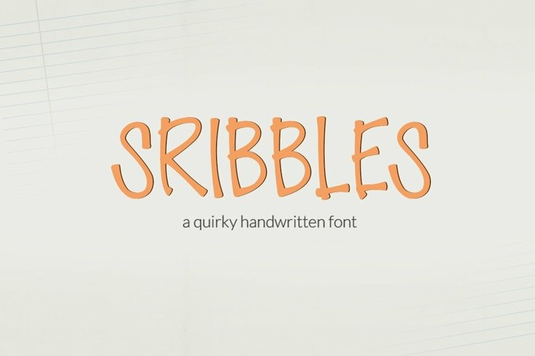 Web Font Scribbles - a quirky handwritten font example image 1