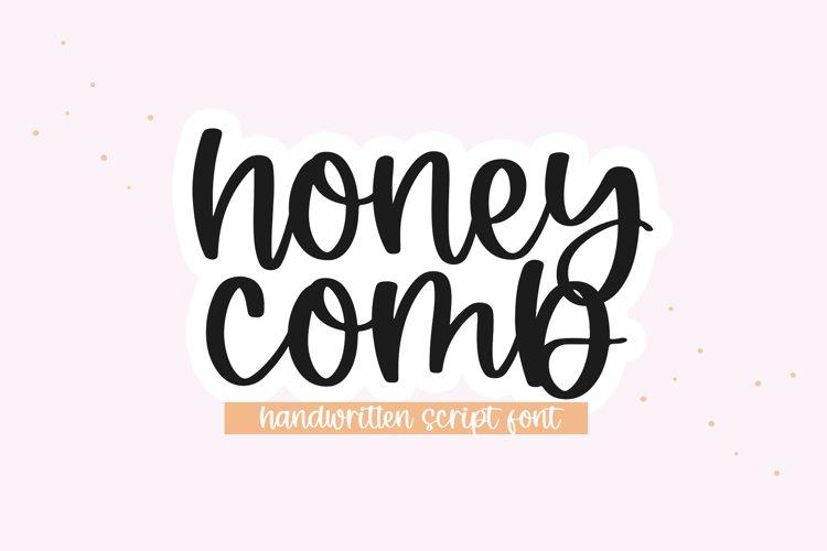 Honeycomb - A Handwritten Script Font example image 1