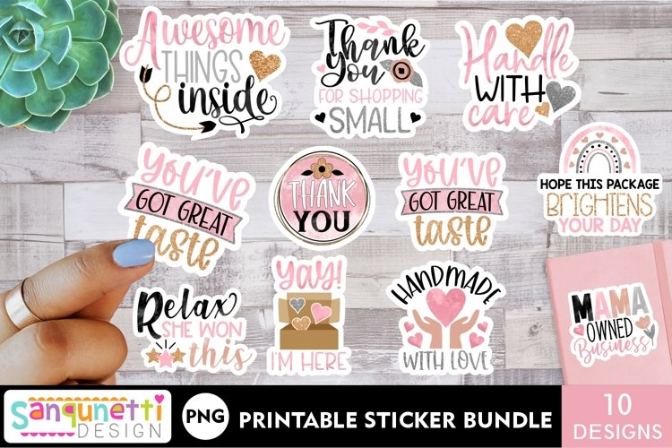 Small business and packaging sticker bundle - rose gold