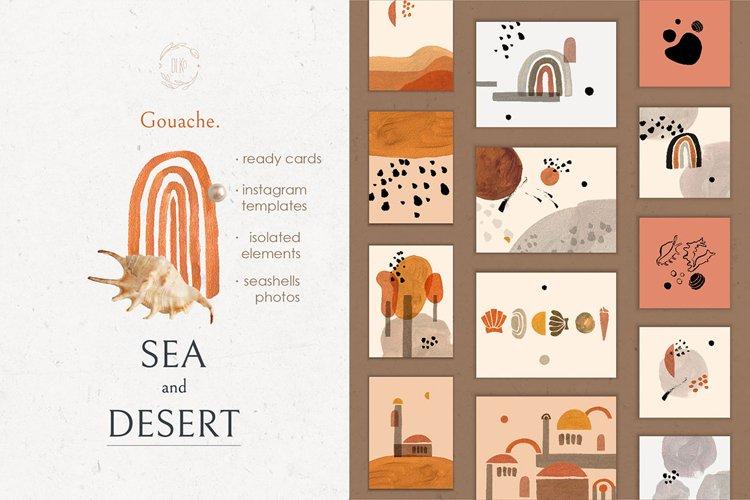 Sea and Desert paintings